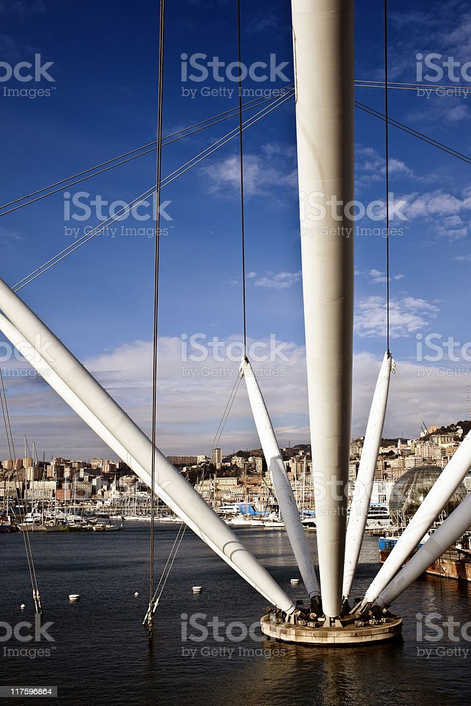 Genova Port. Color Image stock photo