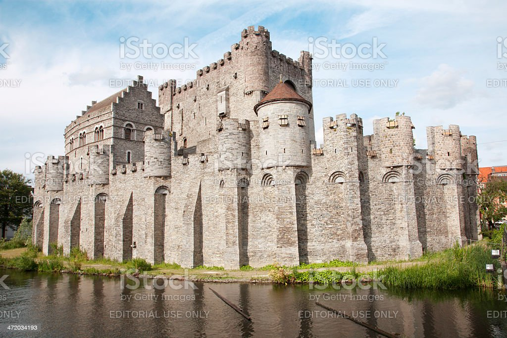 Gent - Gravensteen castle stock photo
