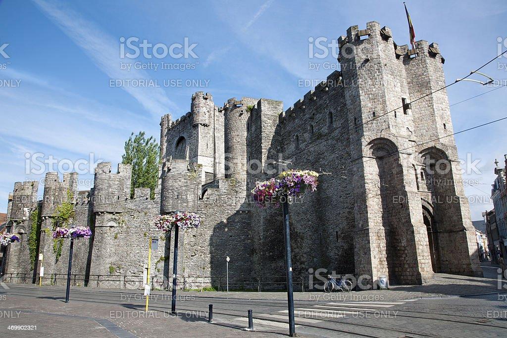 Gent - Gravensteen  old castle stock photo