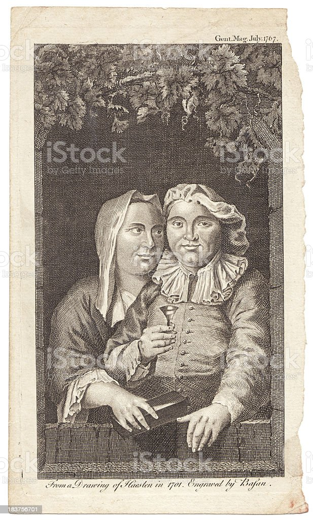 Gent Mag Engraving stock photo