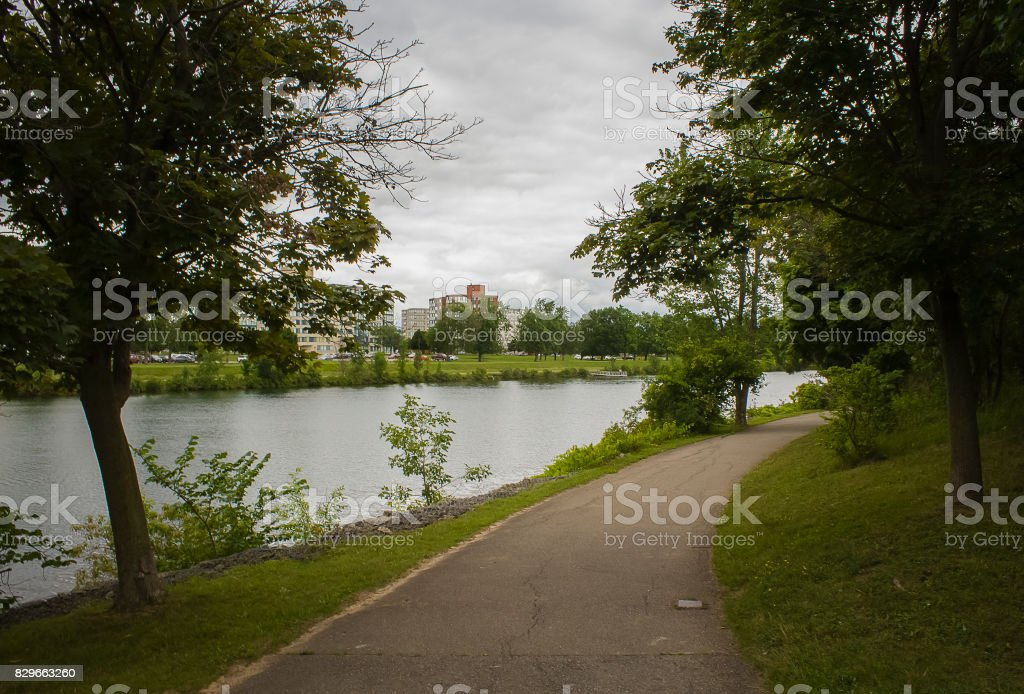 Gentle Canal Path stock photo