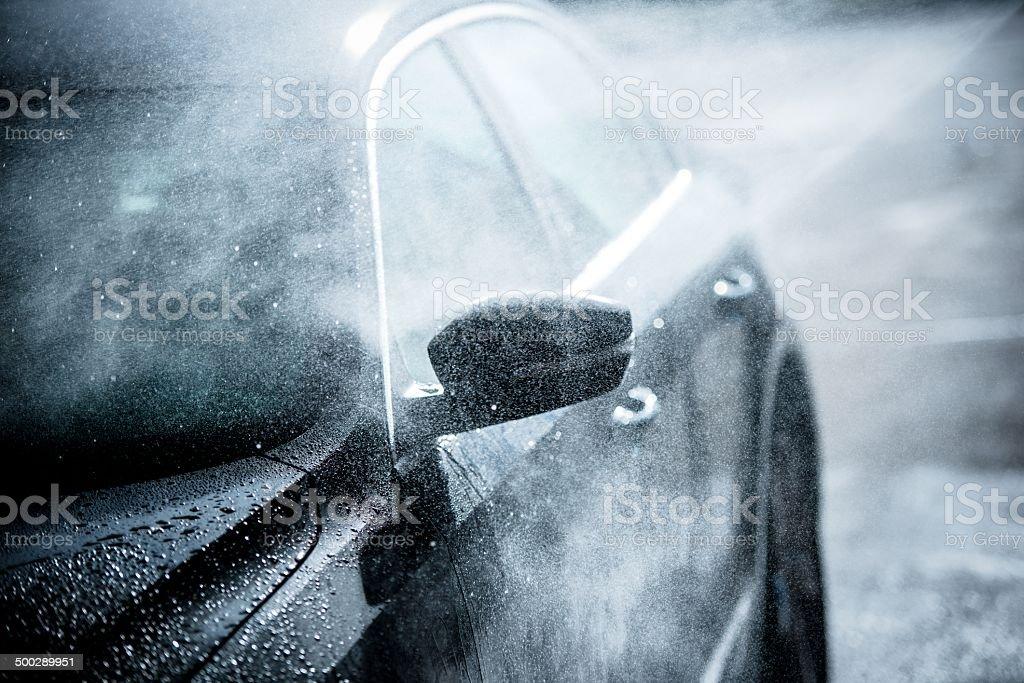 Gentle Car Washing stock photo