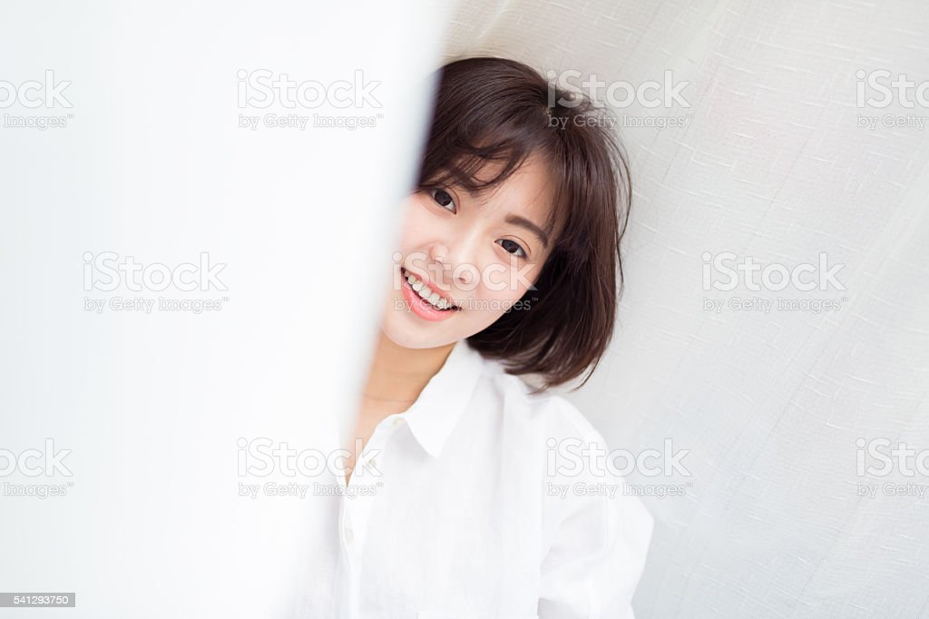 gentle chinese girl stock photo