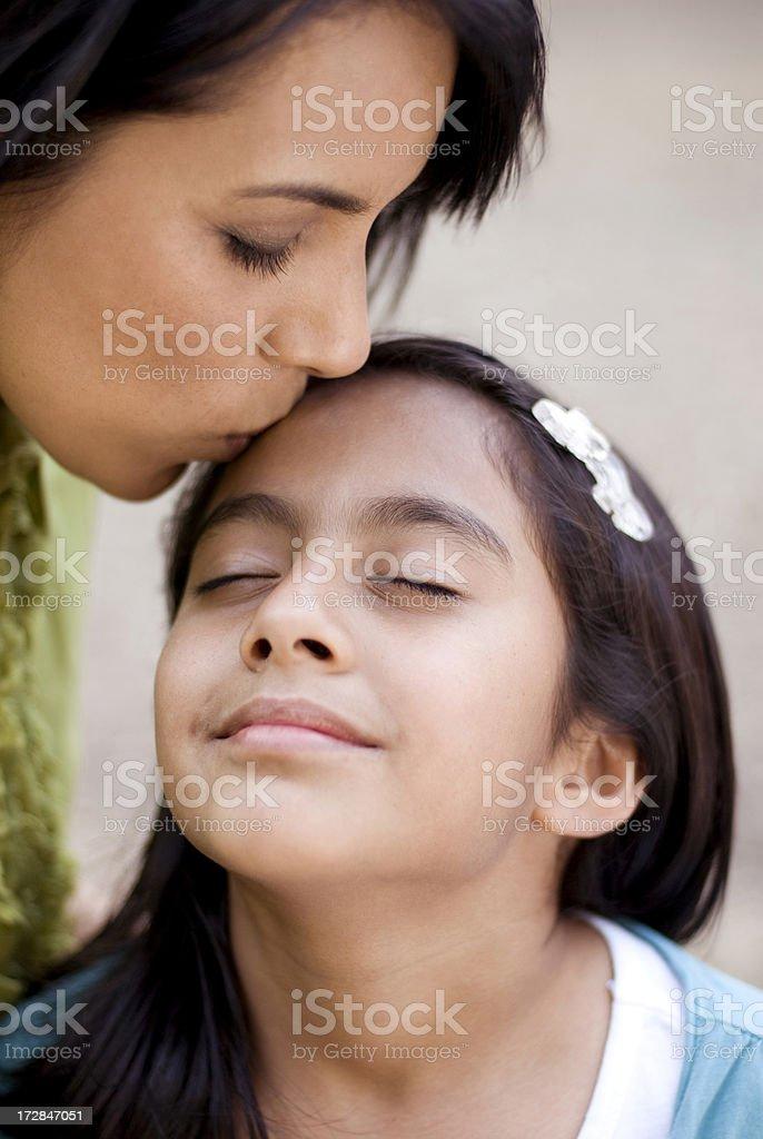 Gentle kiss stock photo
