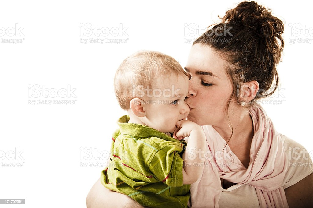 Gentle kiss royalty-free stock photo