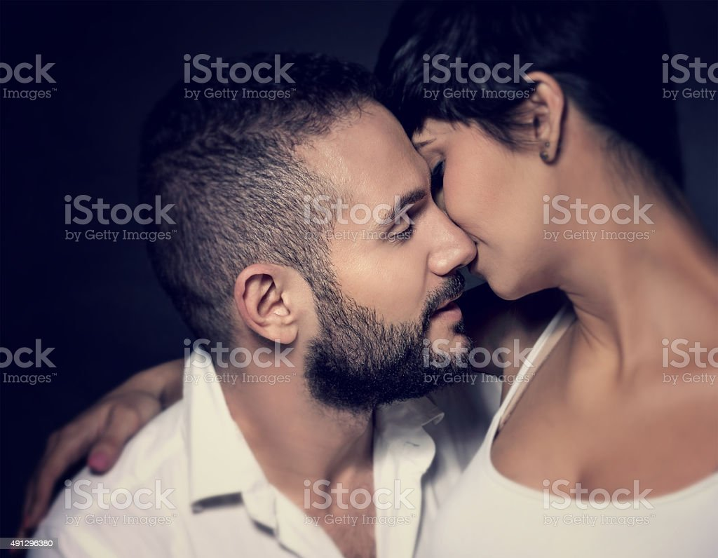 Gentle loving couple stock photo