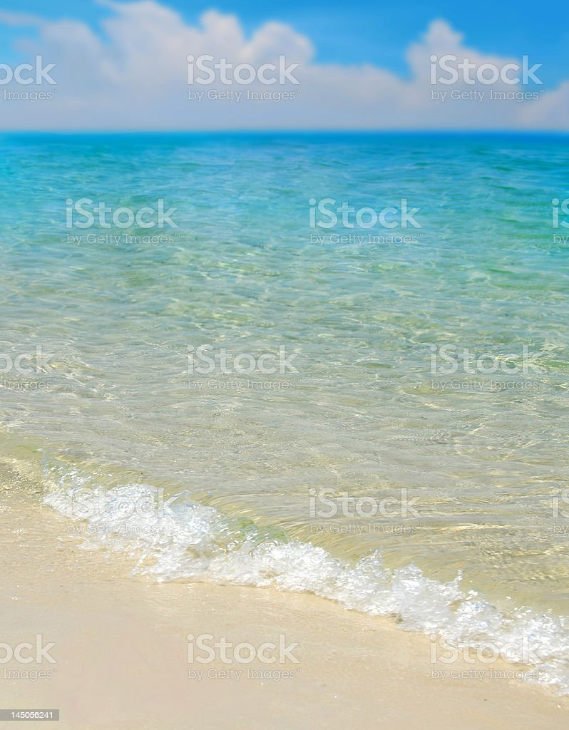 Gentle Surf on Beach royalty-free stock photo