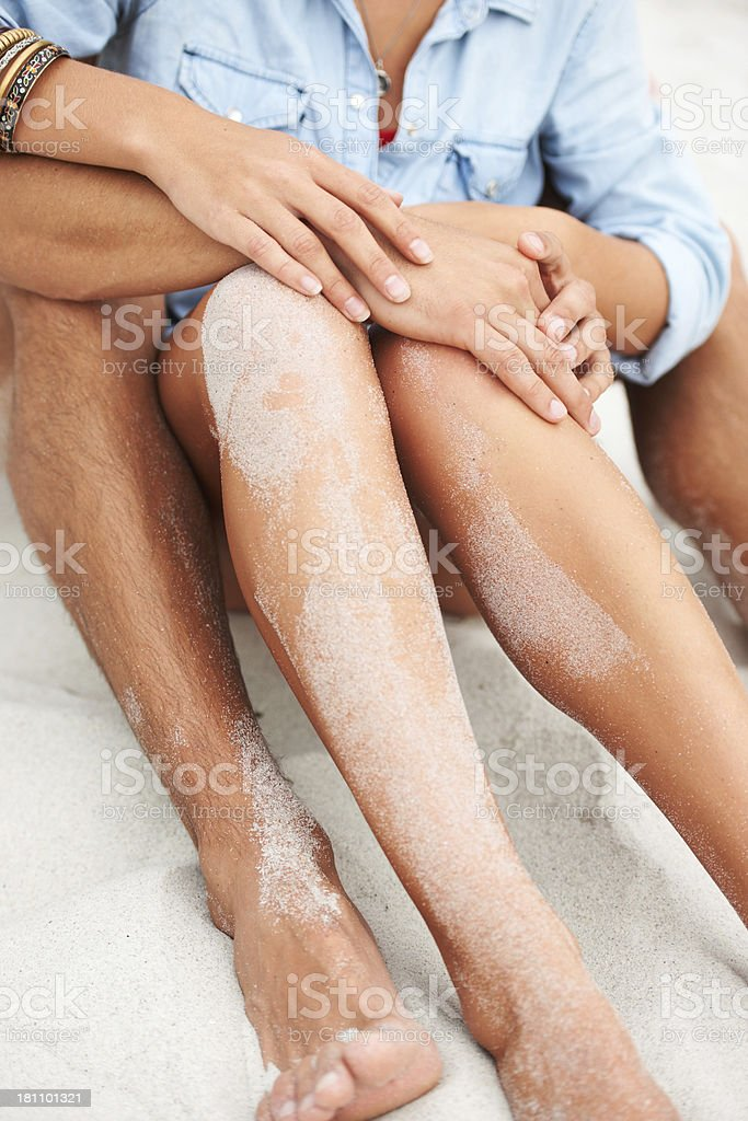 Gentle touch on sandy beaches royalty-free stock photo