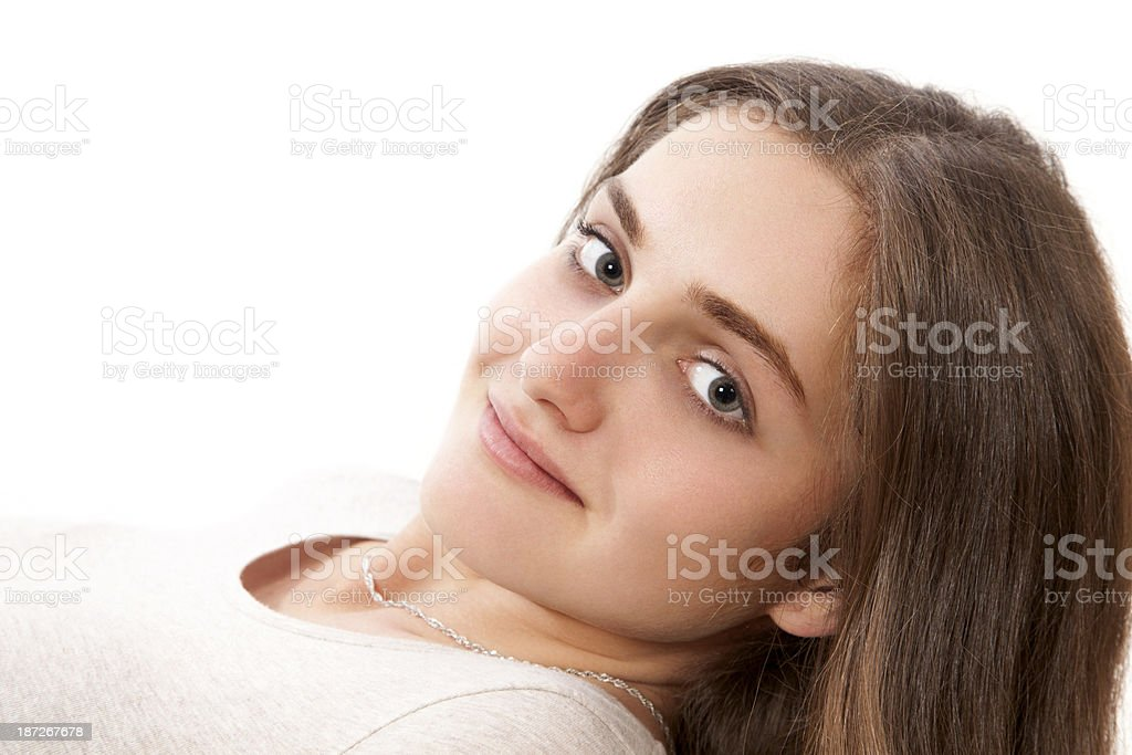 Gentle view of young woman royalty-free stock photo