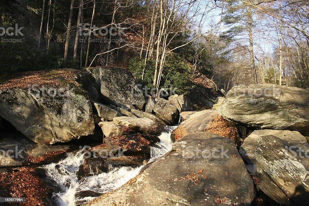 Gentle waterfall royalty-free stock photo