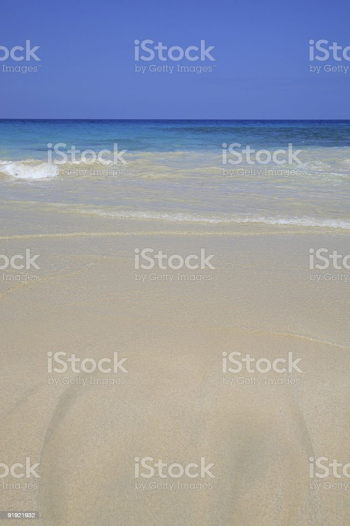 Gentle waves in Kona Beach stock photo