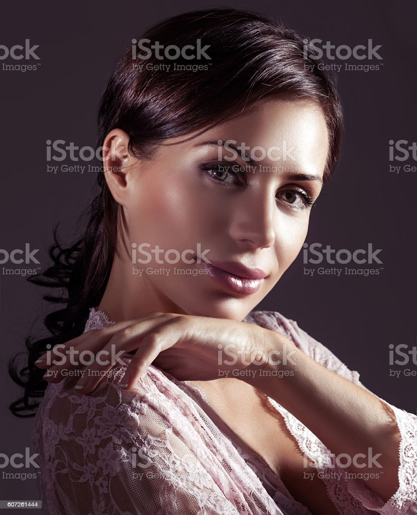 Gentle woman portrait stock photo