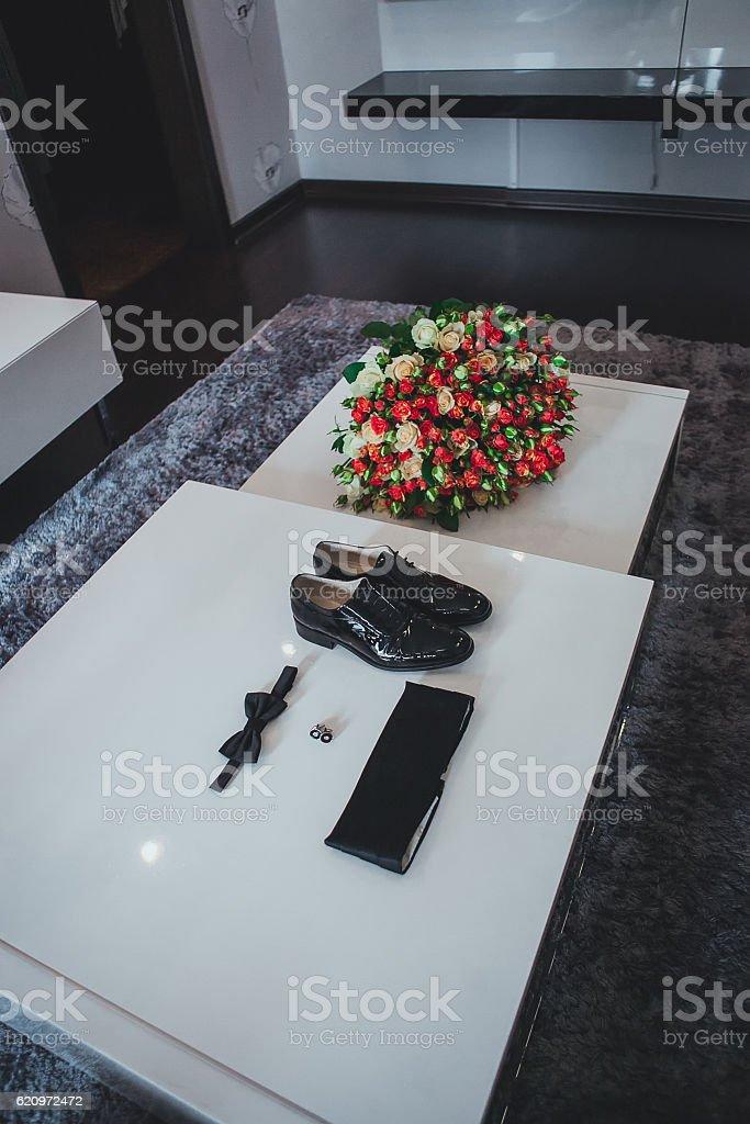 Gentleman accessories. stock photo