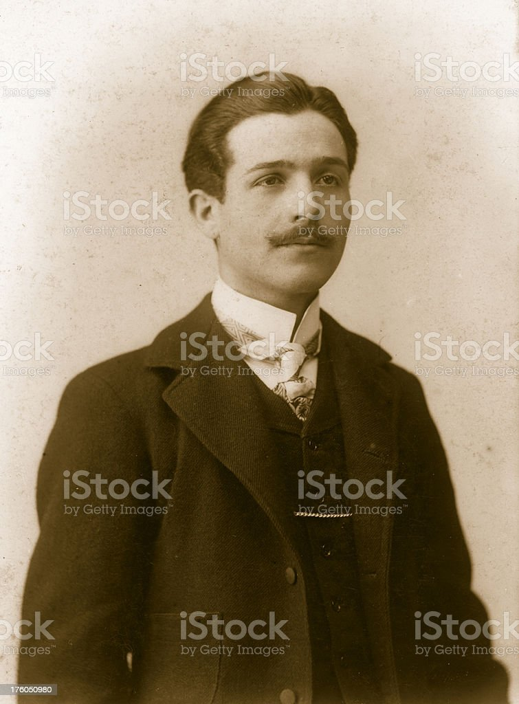 Gentleman in 1917.Sepia Toned. royalty-free stock photo