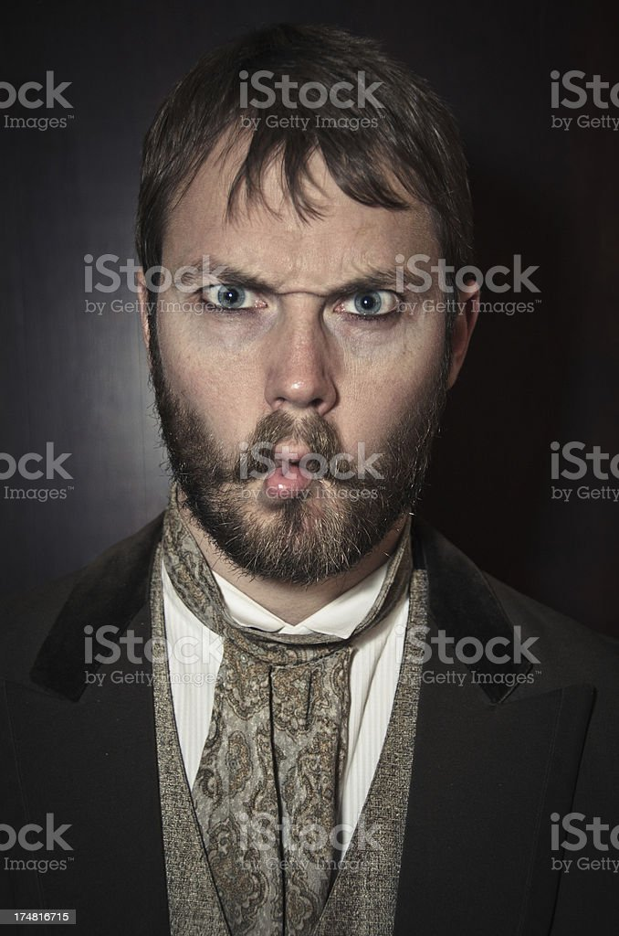 Gentleman Making a Fish Lips royalty-free stock photo
