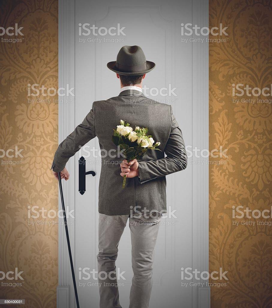 Gentleman surprise stock photo