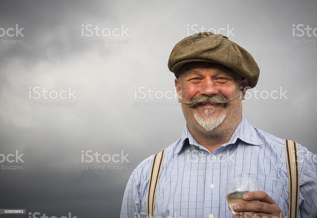 Gentleman with Moustache stock photo