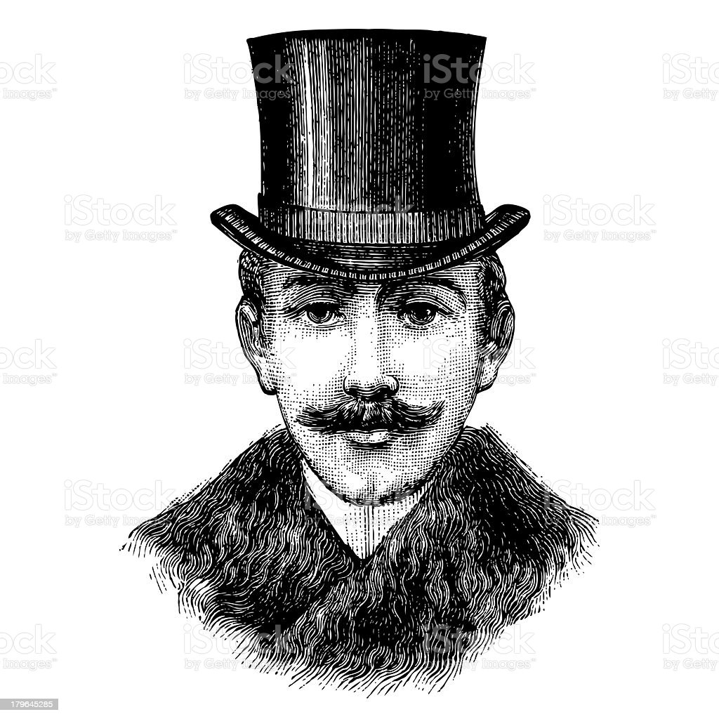 Gentleman with top hat stock photo