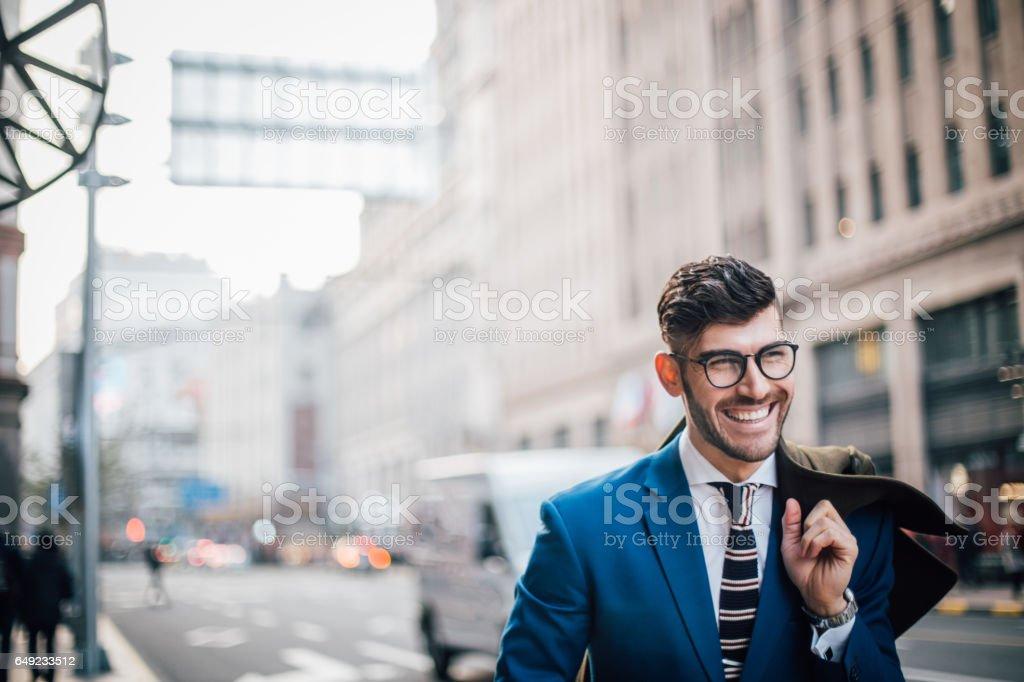 Gentleman wtih eyeglasses stock photo