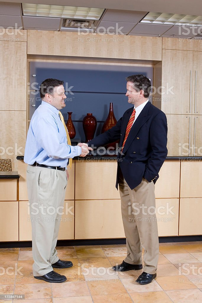 Gentleman's Agreement royalty-free stock photo