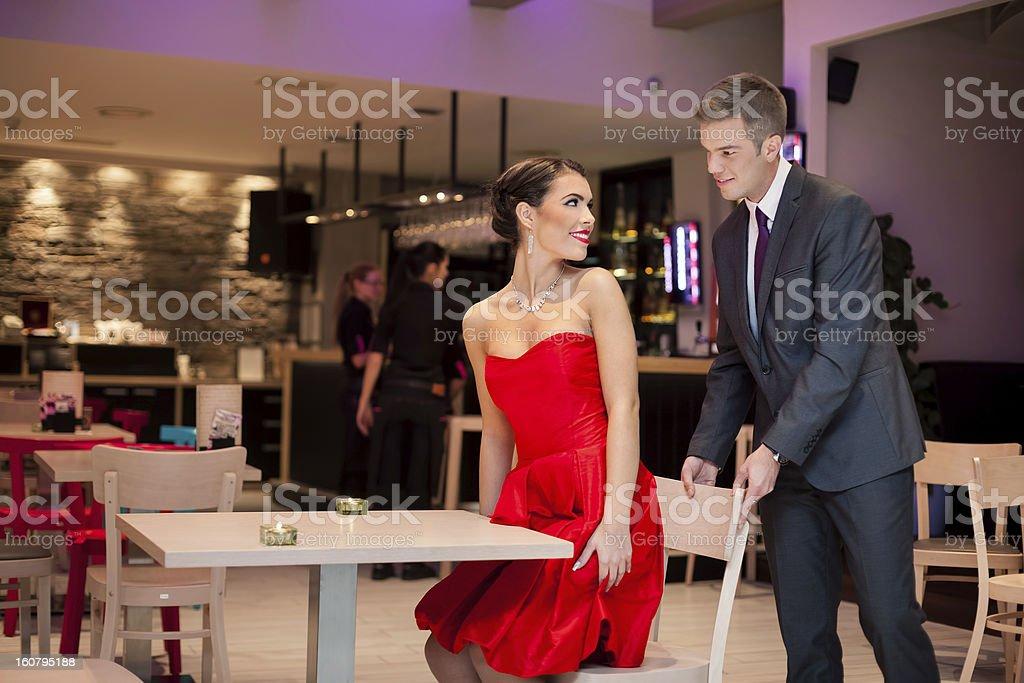Gentlemen in restaurant royalty-free stock photo