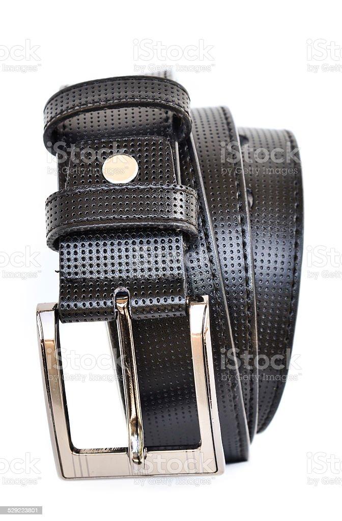 Gentlemen leather belt stock photo