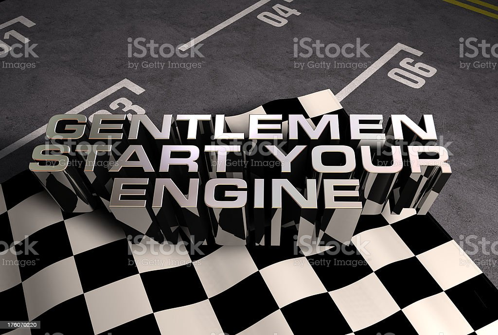 Gentlemen start your engine royalty-free stock photo