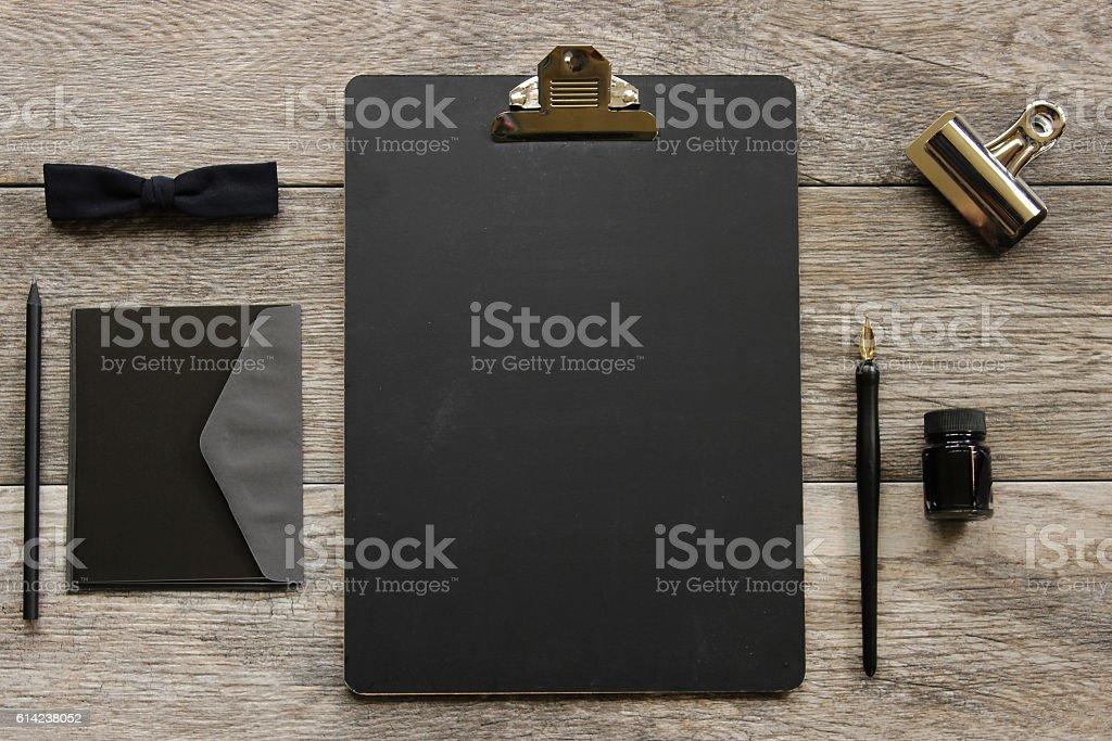 Gentlemen's Desk top stock photo