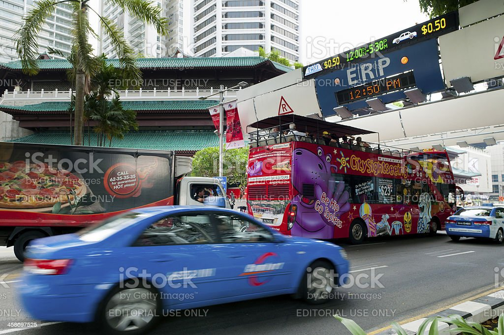 ERP gentry at Orchard Road stock photo