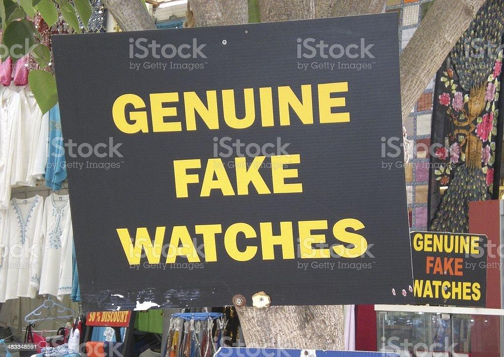 Genuine Fake Watches stock photo
