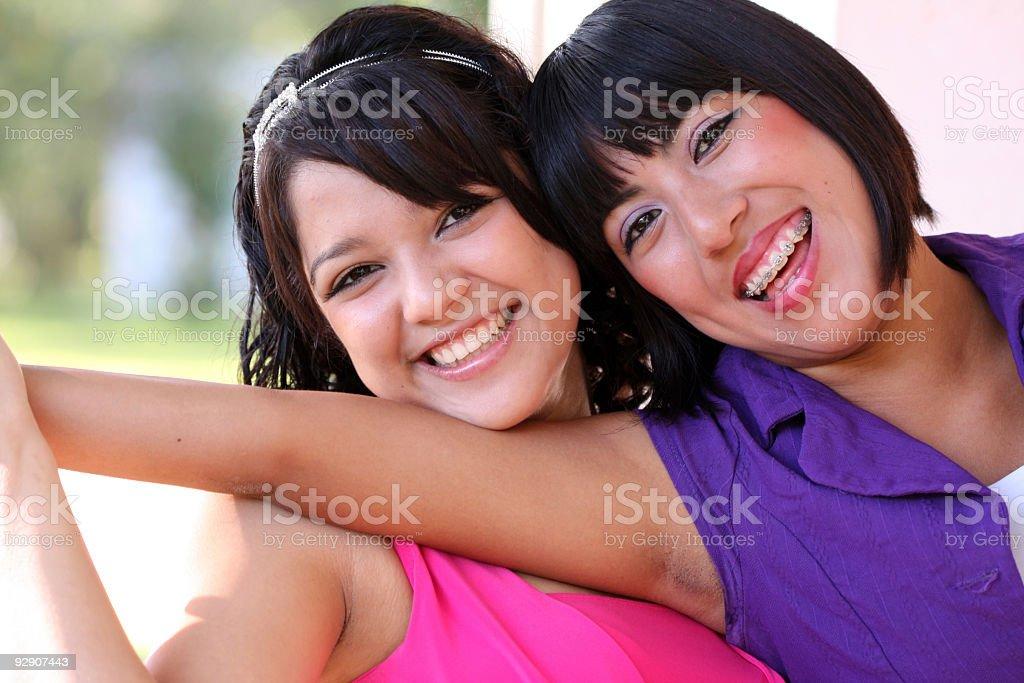Genuine Friendship stock photo