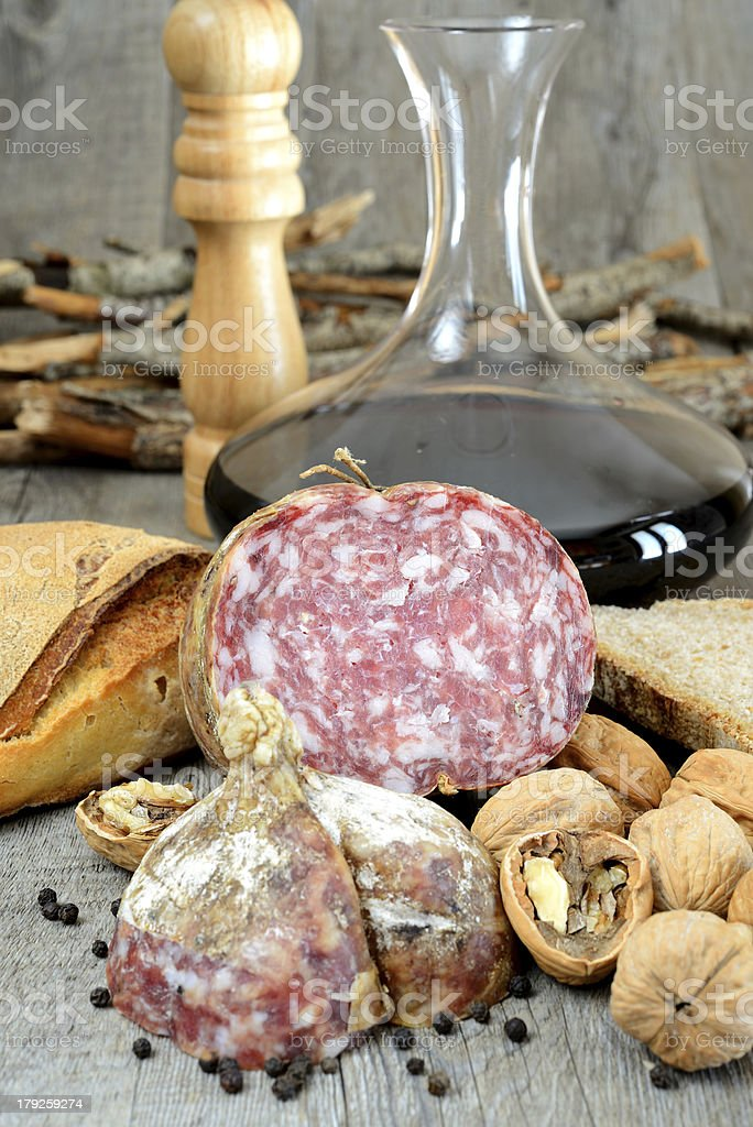 genuine salami royalty-free stock photo