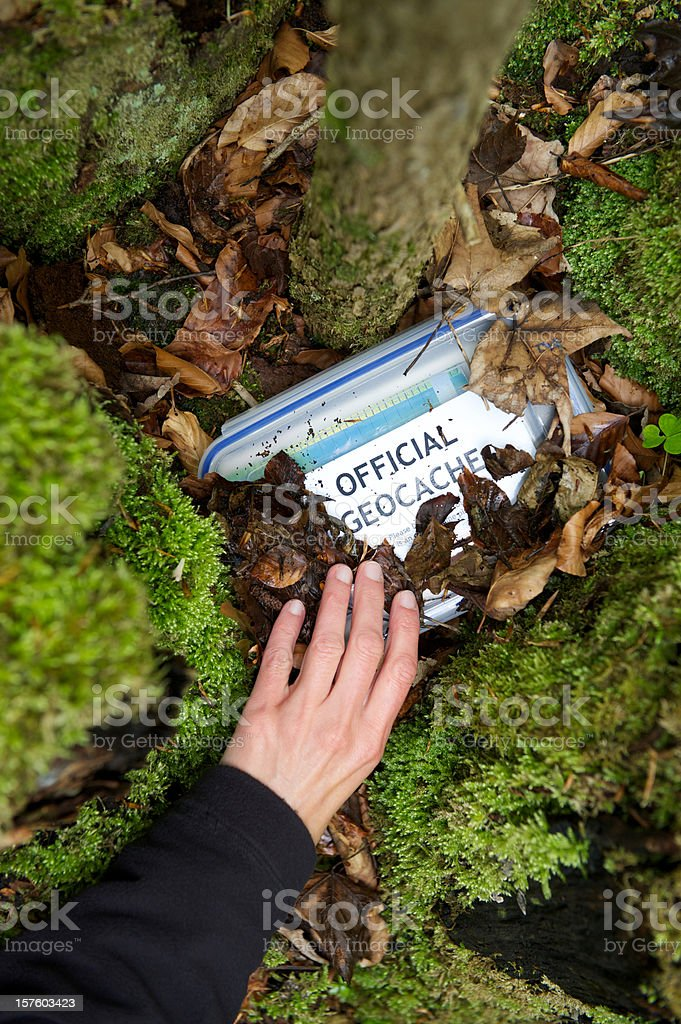 Geocaching stock photo