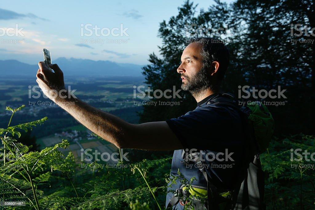 Geocaching stock photo