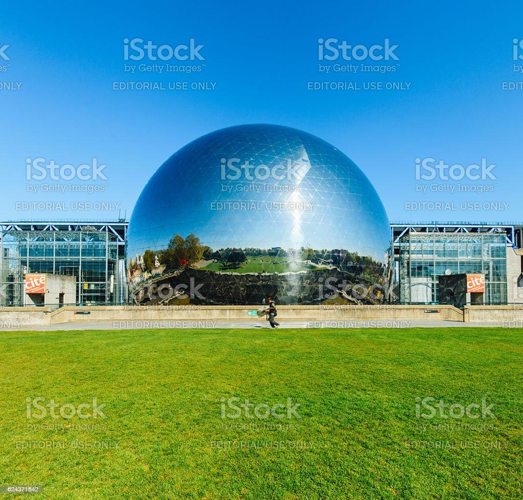 Geode, Parc de La Villette, Paris, France stock photo