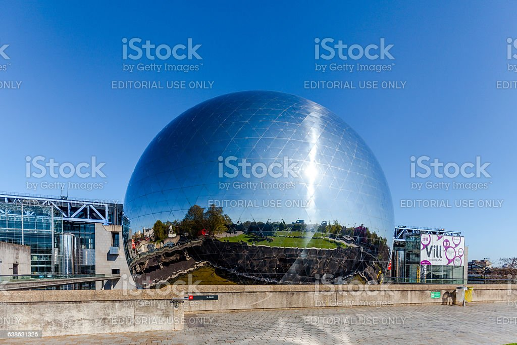 Geode, Parc de La Villette, Paris, France stock photo