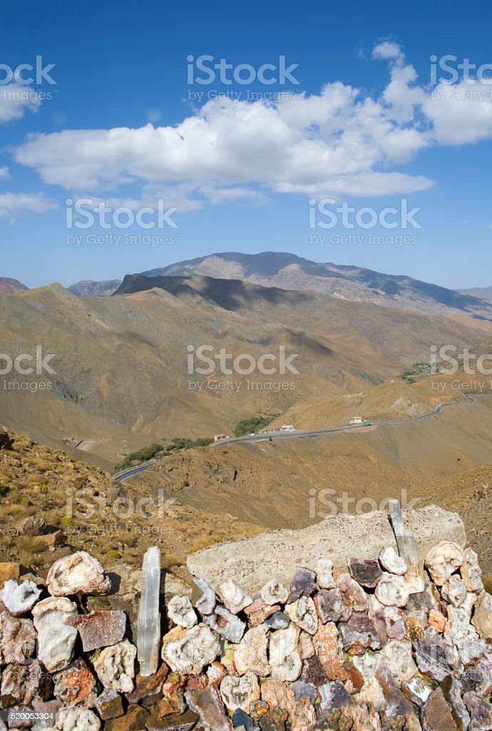 Geodes for sale, Morocco stock photo
