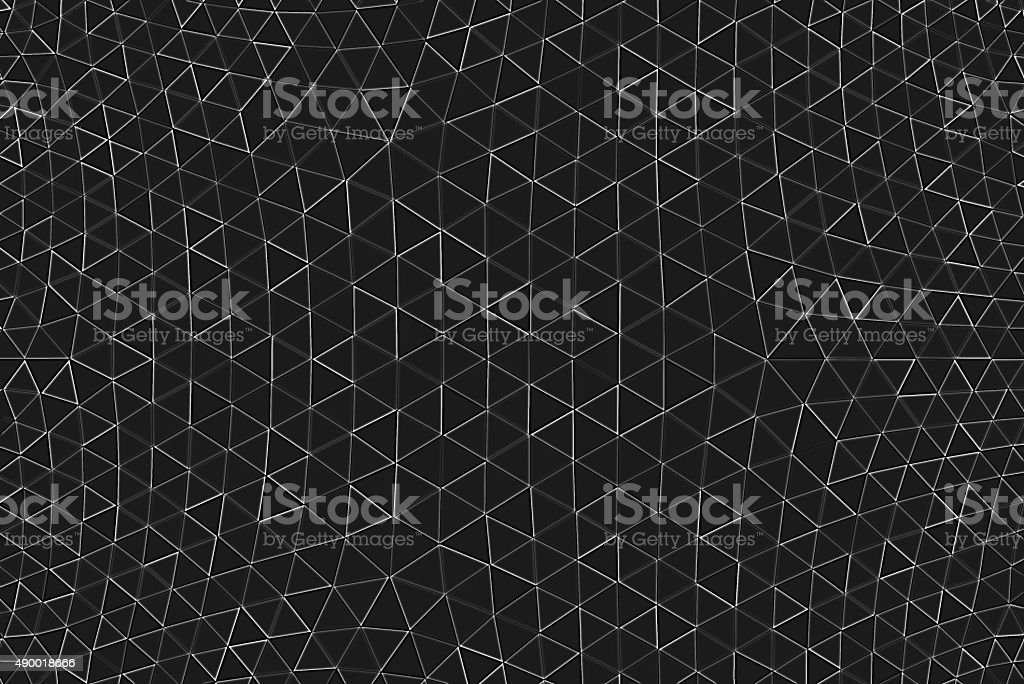 Geodesic Abstract Pattern Black White Monochrome Technology Futuristic Connection Background stock photo