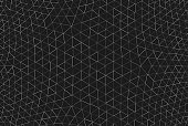 Geodesic Black Abstract Background