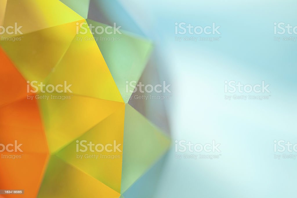 Geodesic Crystal Prismatic Sphere with Spectrum of Color stock photo