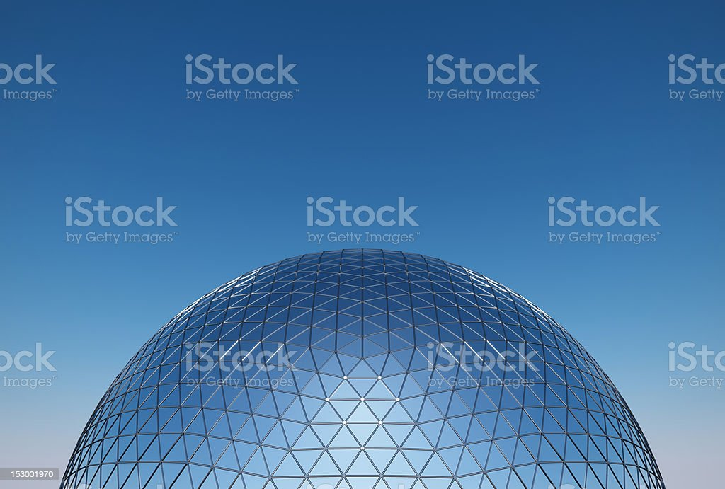 geodesic dome stock photo