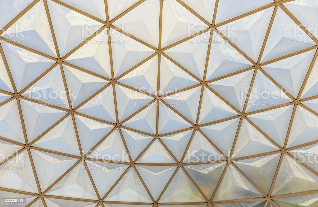 geodesic dome roof structure stock photo