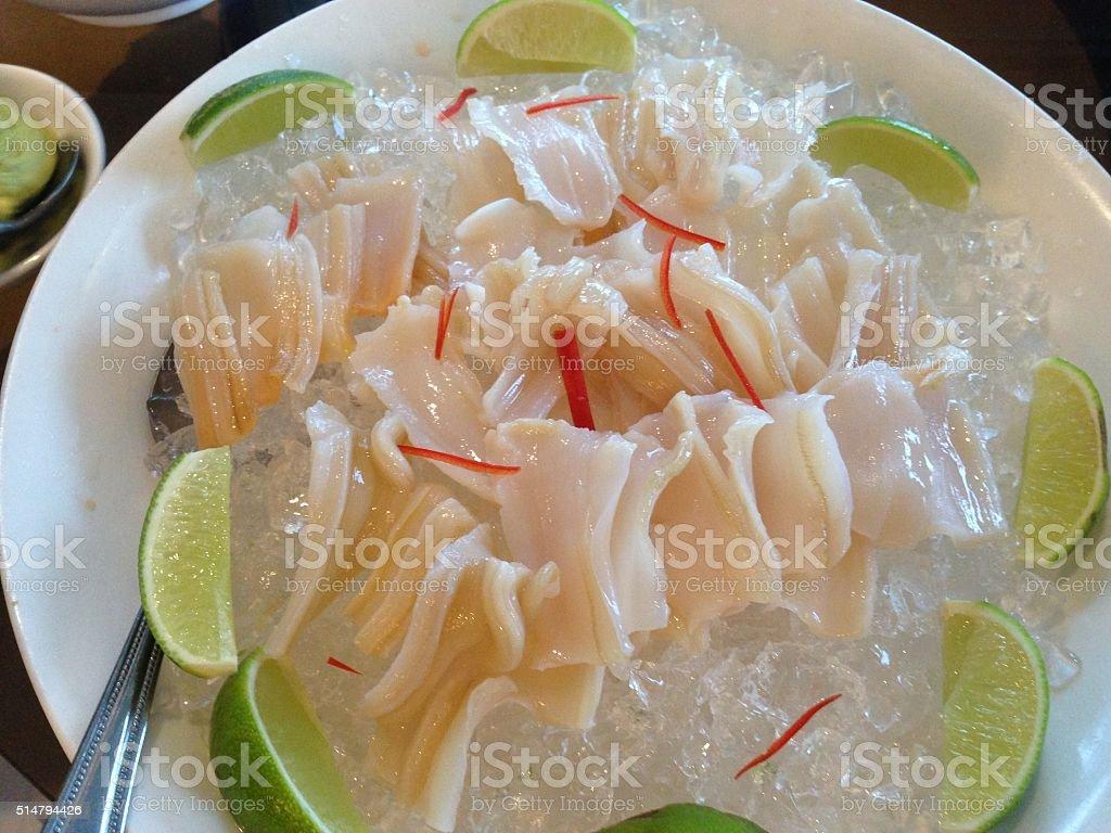 Geoduck sashimi stock photo