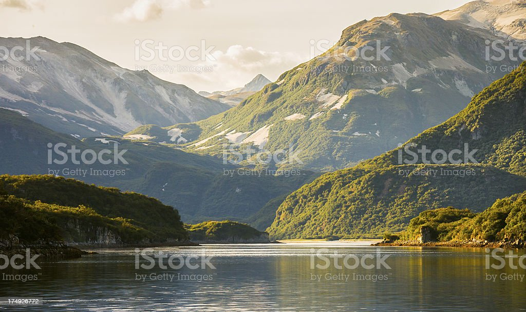 Geographic Harbor Alaska royalty-free stock photo