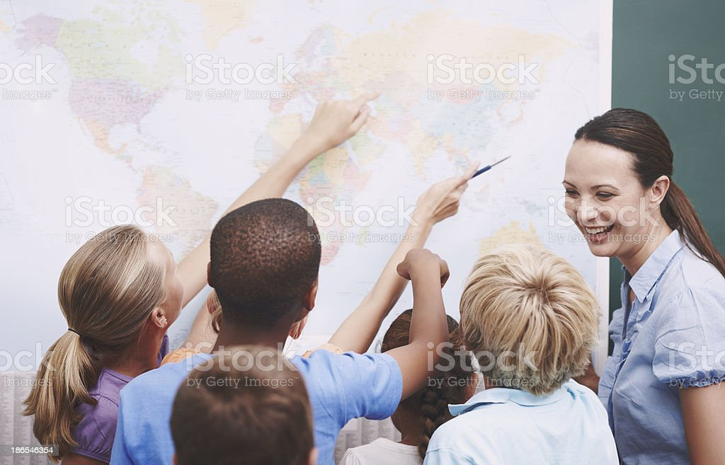 Geography can be fun royalty-free stock photo