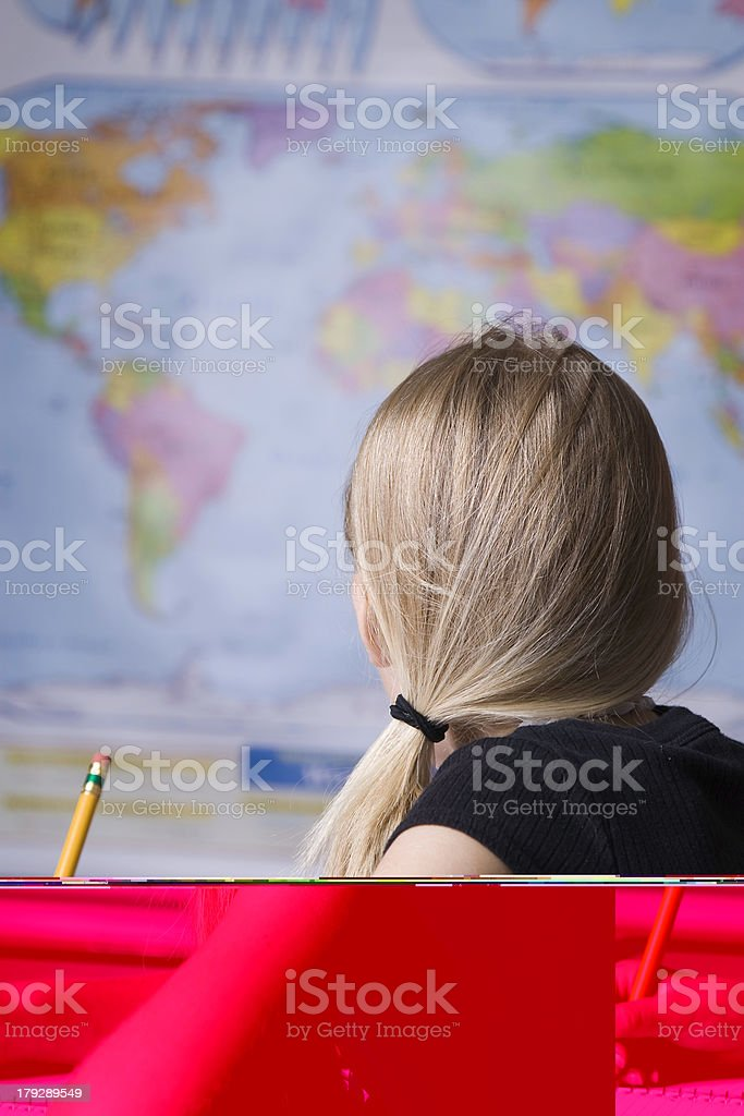 Geography Lesson royalty-free stock photo