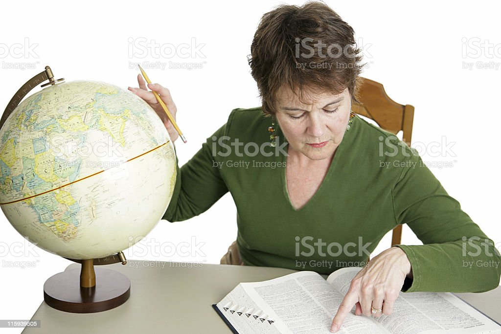 Geography Research royalty-free stock photo
