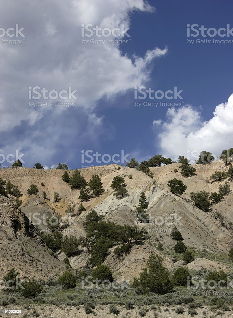 geography scenes - sky blue desert royalty-free stock photo