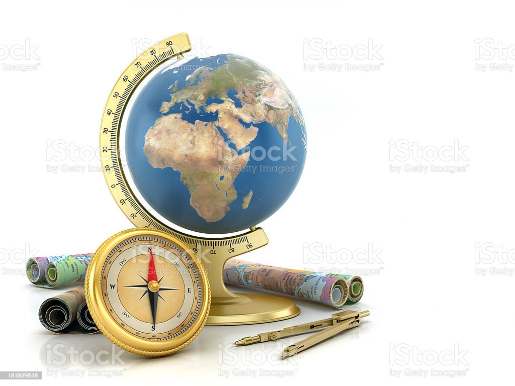 Geography - Travelling concept royalty-free stock photo