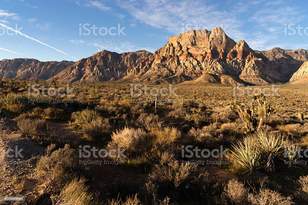 Geologic Rock Formations Red Rock Canyon Las Vegas USA stock photo